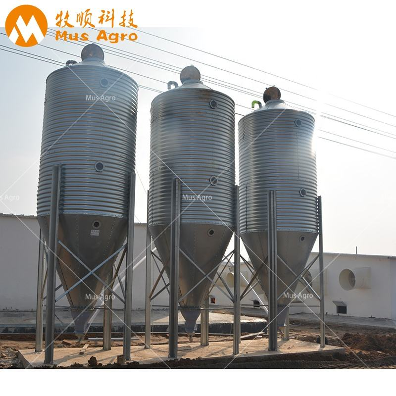 Factory Price Assembly Hot Galvanized Metal 20 ton silo Feed Bins/ Feed Silo