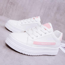 2019 Spring New Designer White Shoes Female Platform Sneakers Women Tennis Casual Shoes