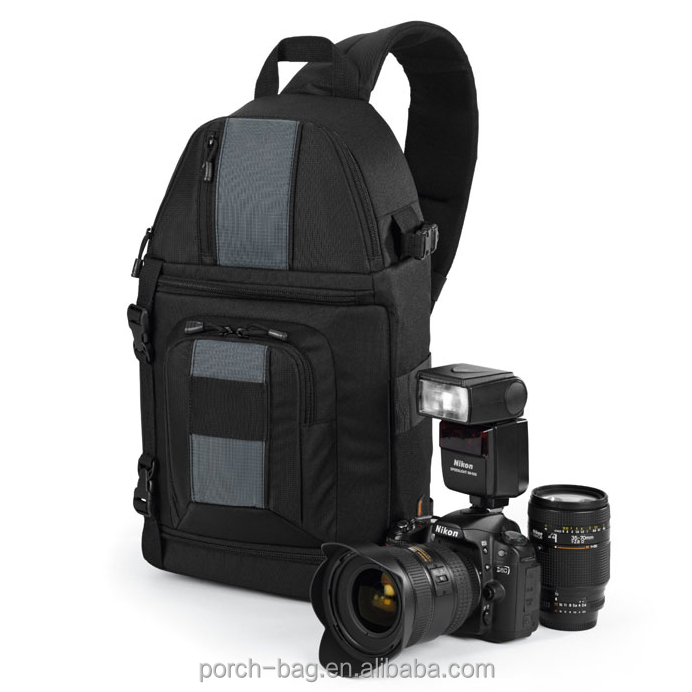 Shenzhen pabrik kustom tahan air ringan sling dslr camera backpack