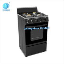Zhongshan hot sale cheap stand gas cooker oven with 4 brass cap gas bunrers for south American