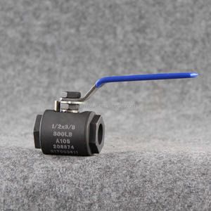 CS 2pc SW Lever Operated A105 3/4 800LB Forged Steel Float Ball Valve