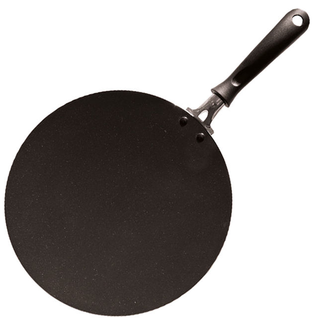 Newscooking 30 Cm Aluminium Tekan Non-stick India Tawa dengan Tahan Panas Powder Coating