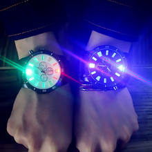 Korean personality luminous watch Korean fashion trend led watch couple jelly watch