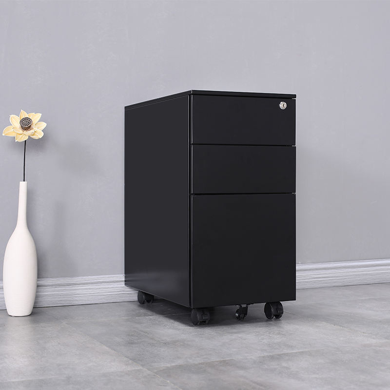 luoyang Office Metal furniture A4 3 drawer detachable mobile Pedestal file steel storage custom cabinet with casters