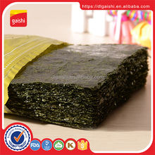 Cheap Price Grade ABCD Kosher dried onigiri wrapper seaweed snack