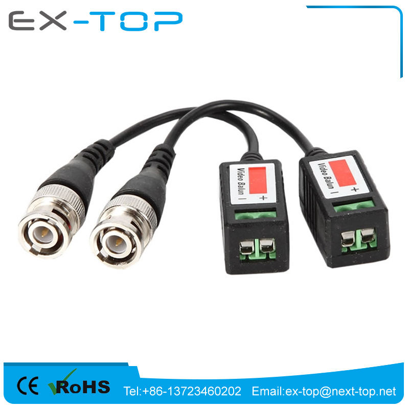 CCTV Camera Passive Video Balun BNC Connector Coaxial Cable Adapter 2000ft Distance Twisted Cable