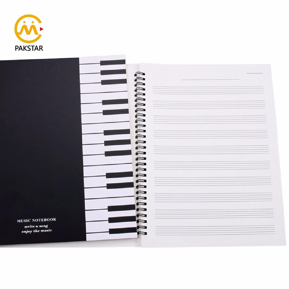 Wholesale school stationery music book A4 custom spiral notebook printing