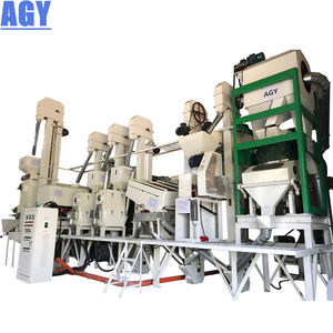 AGY with rice polisher sorter packing scale fully automatic rice mill plant