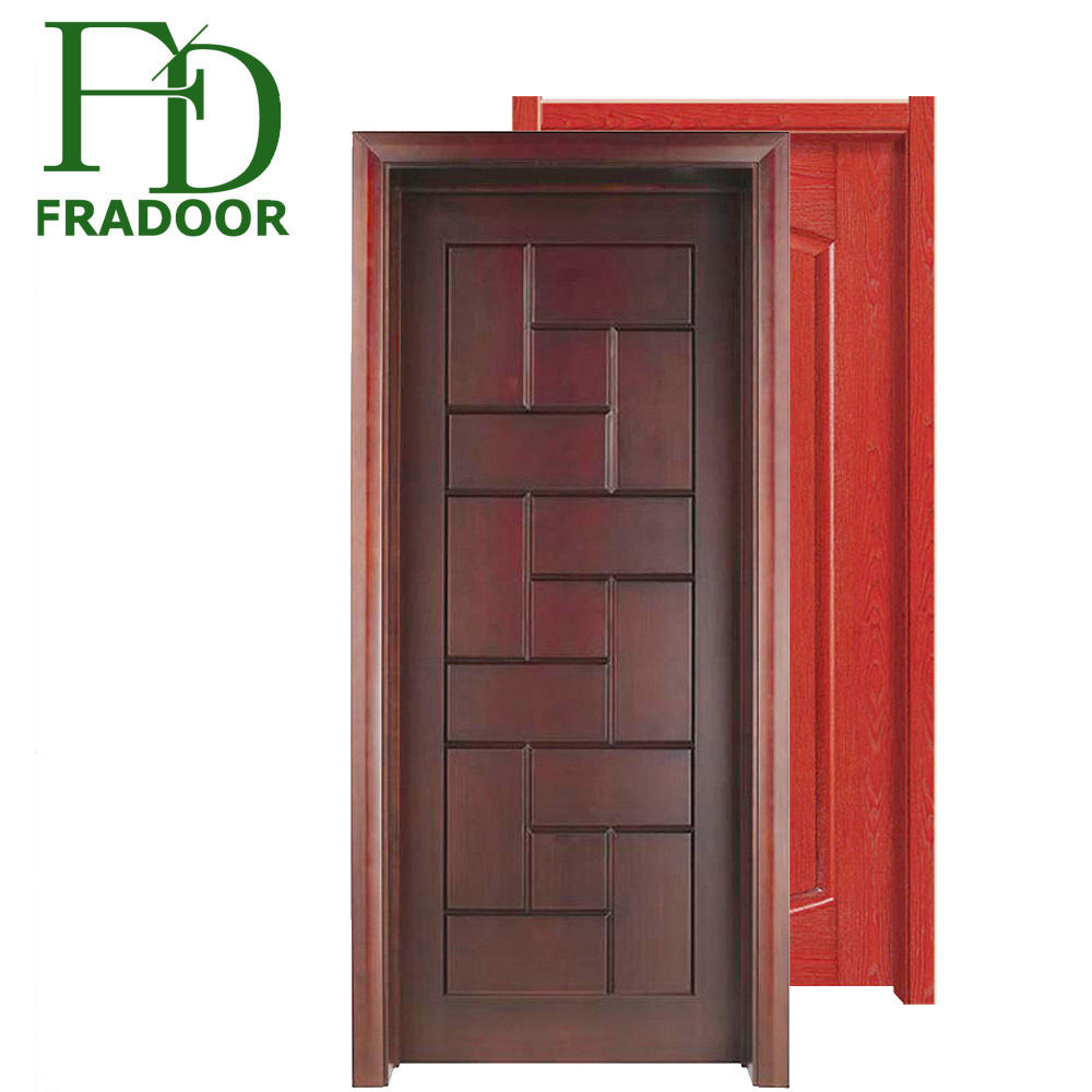 Hot sale wooden front door designs pictures for home