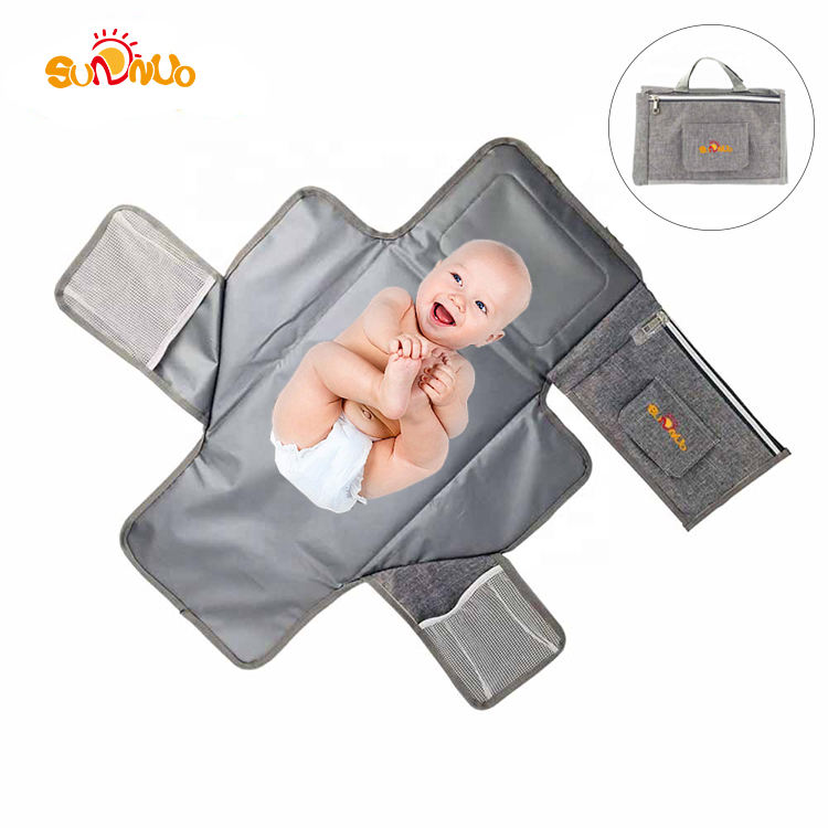 Portable Changing Station with Cushioned Changing Mat For Baby and Wipes Case,Changing Pad Mat
