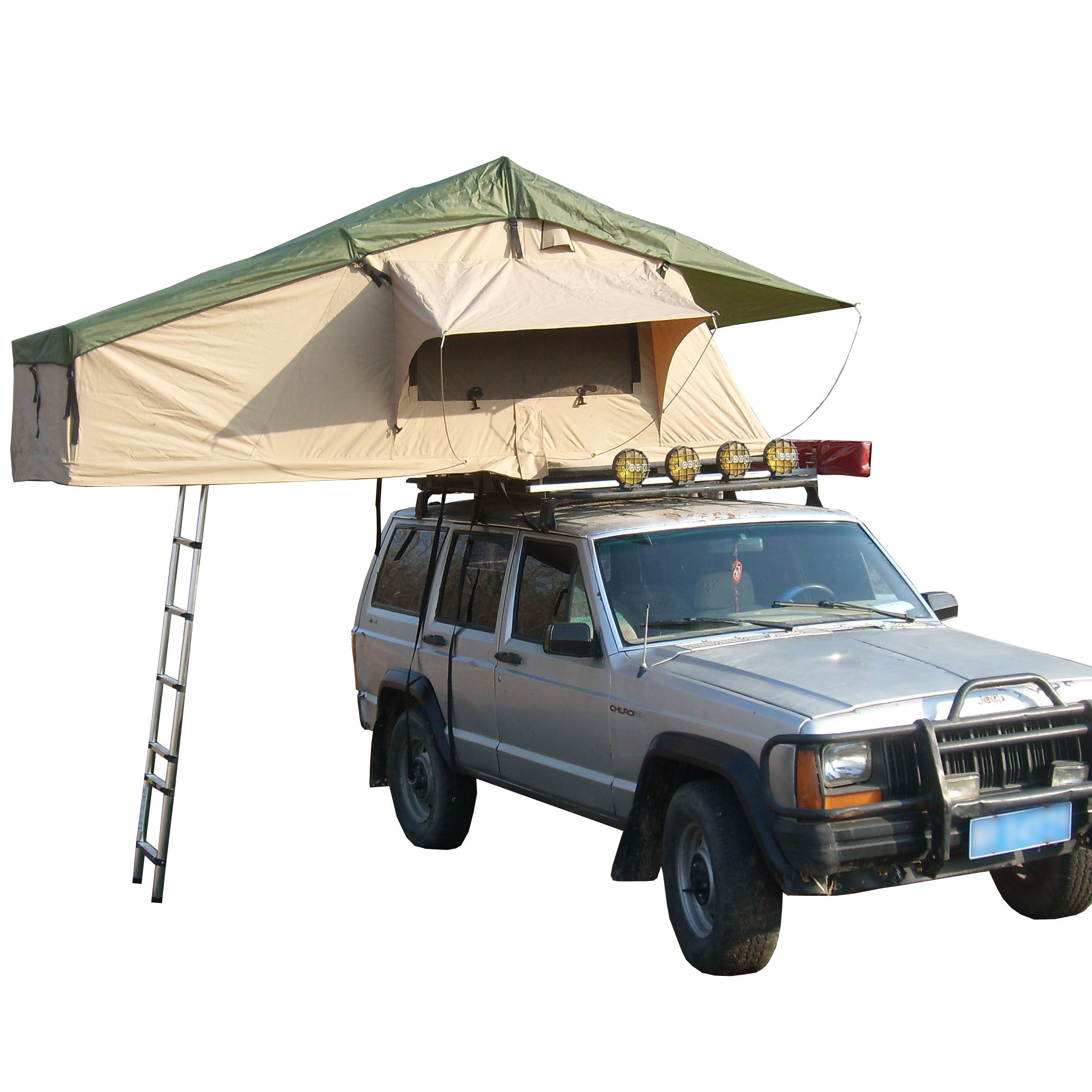 Overland Trailer GreenBeigeKhaki Car Roof Top TentCar