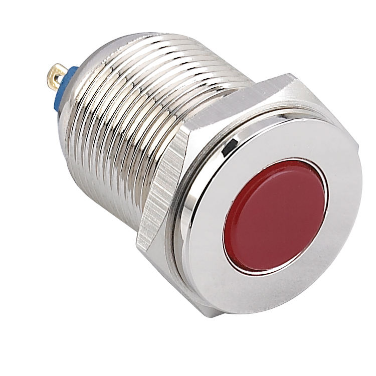 flat round head 22mm indicator light led