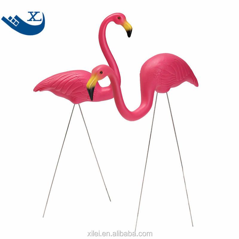 Hi9 Pink Flamingo Solar Light Yard Art Plastic Metals Garden Ornaments 2
