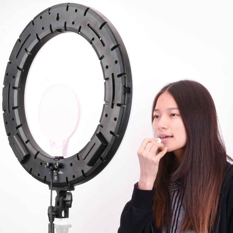 QZSD 18inch 28.5w LED Ring Light for Photography China factory direct ring light with black and pink color for make up