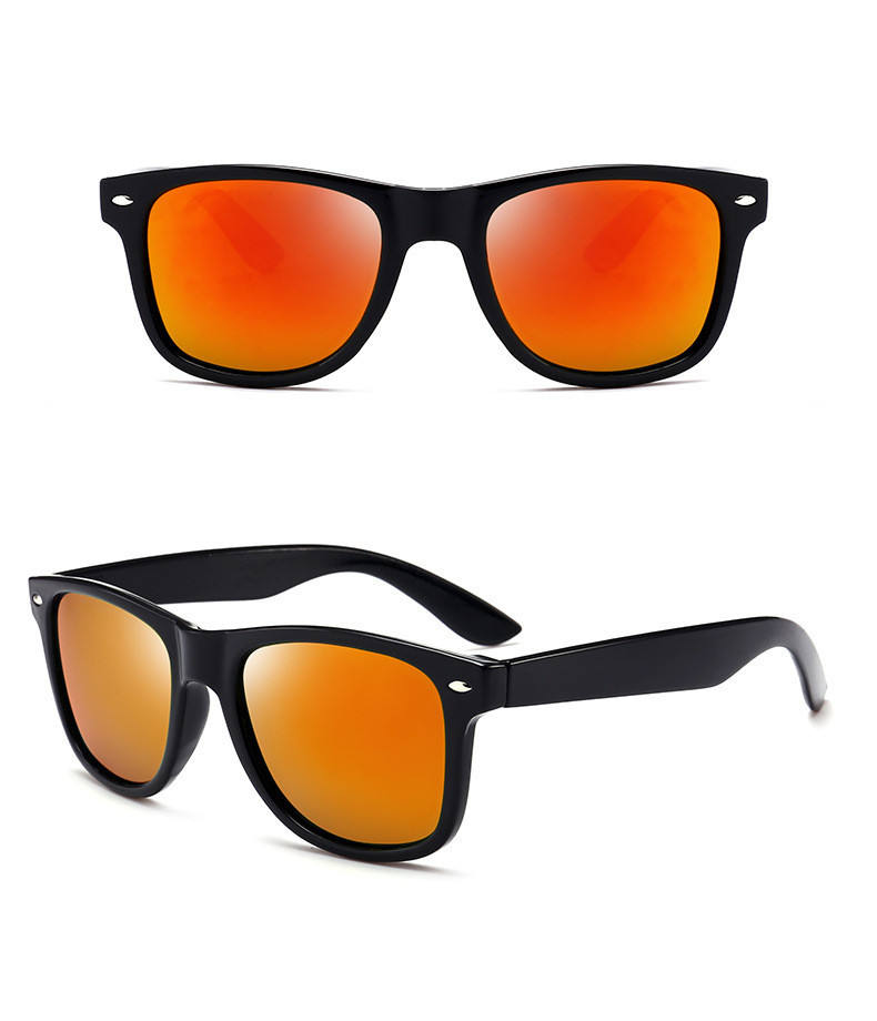 classic model customized polarized PC sun glasses sunglasses for men male with rivet