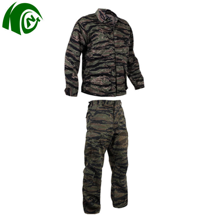 Veste <span class=keywords><strong>Camouflage</strong></span> à rayures tigres pour hommes, <span class=keywords><strong>uniforme</strong></span> militaire BDU pour hommes, armée tactique pour armée