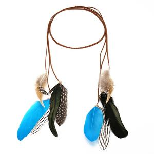 the newest design Hair accessories Hot sales fashion color feather headwear for lady and girl 19FA0359K1