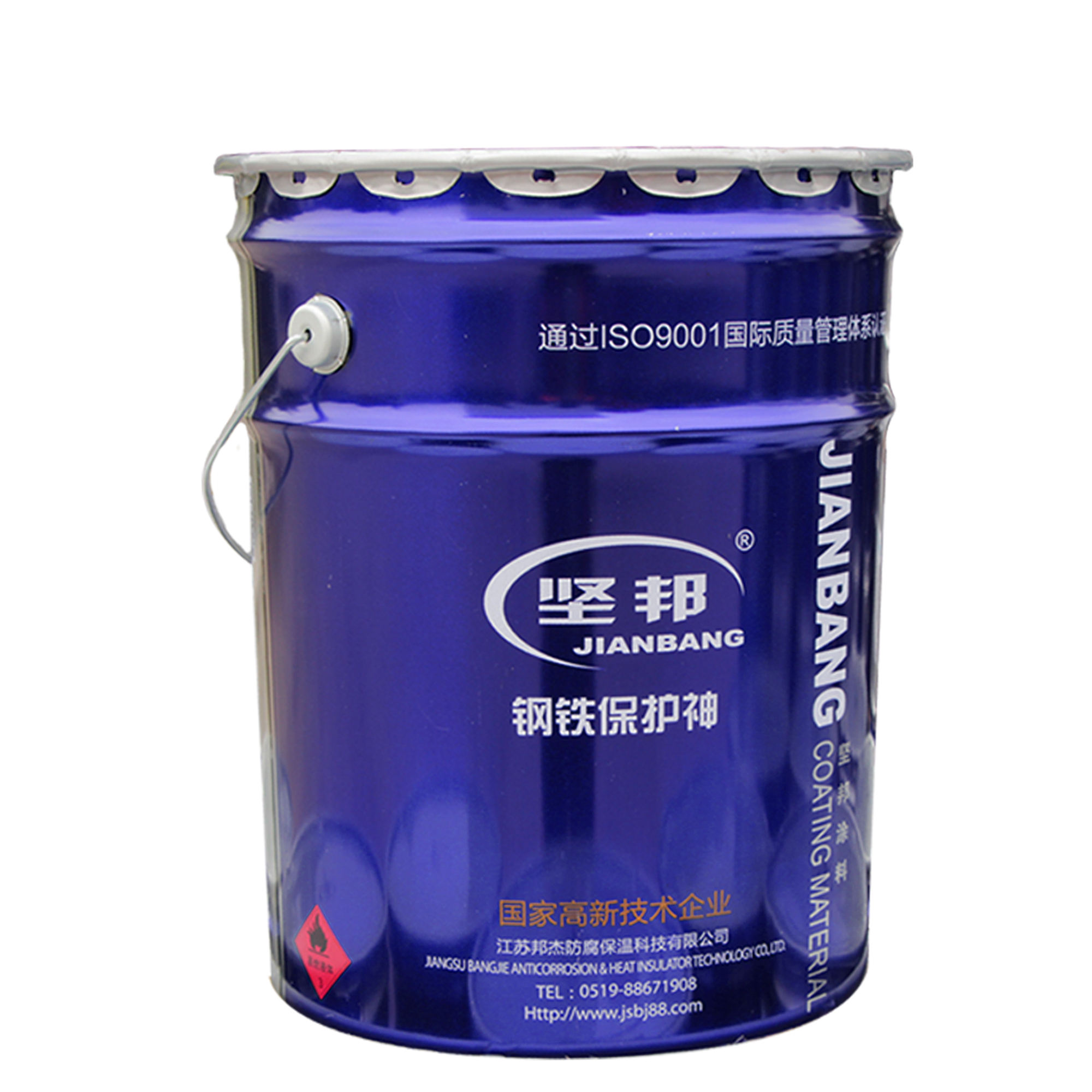 For steel structure two-component anti-corrosion epoxy zinc-rich primer