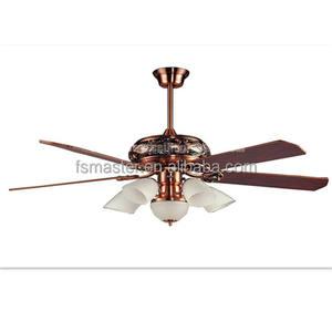 Luxe 4 patin appareil ménager ventilateur de plafond avec lumière
