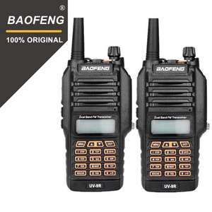 long distance range waterproof 2 way radio 5W black Handheld BaoFeng UV-9R IP67 walkie talkie