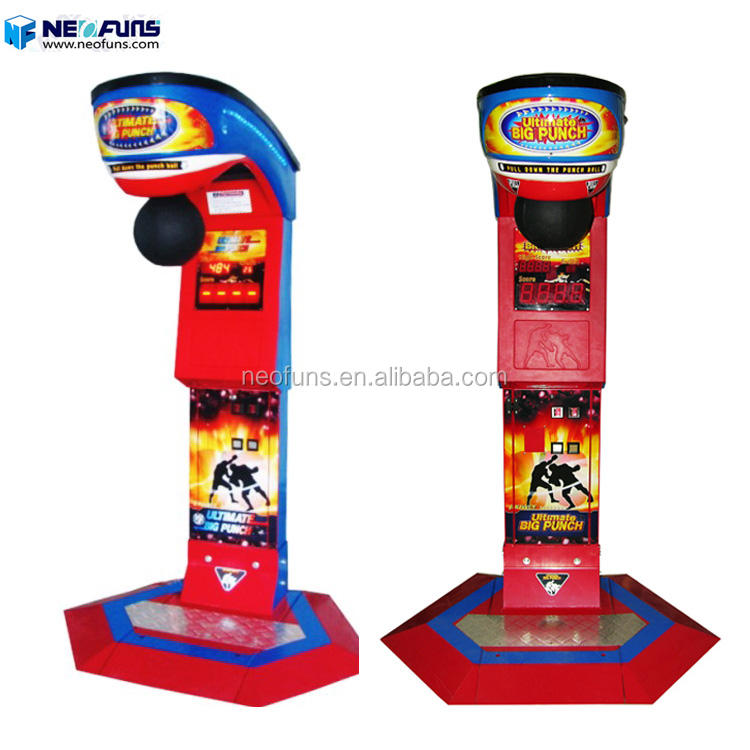 Coin operated boxer gloves boxing fighting game machine