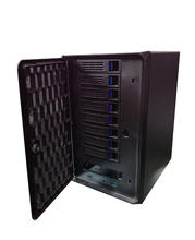 "High quality 8-Bay NAS 3.5"" SATA HDD Hot-Swap Premium Mini-ITX NAS Cloud Storage server case"