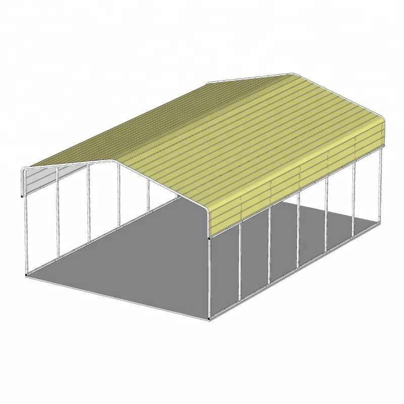 6x9x3.9m Large Carport Prefab Car Barn Gable Roof Car Shelter Horizontal Roof RV cost-effective metal open garage