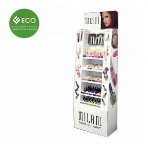 Cardboard Cosmetics Floor Display Racks, Butterfly Cardboard Display For Eyeshadows, Professional Makeup Display Stands