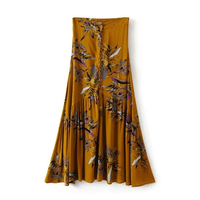 Small MOQ Skirts Newest African Style Design Print Wholesale Maxi Long Skirt