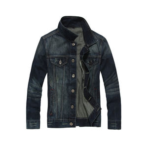 DiZNEW Men's Fashion Stone Washed life jeans denim jacket