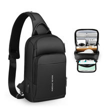New men chest bag with usb charge small bag crossbody bag 2020 chest sling shoulder