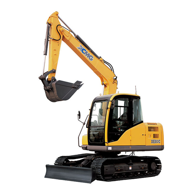 Chinese top brand XCMG 8 ton mini crawler excavator XE80C for hot sale