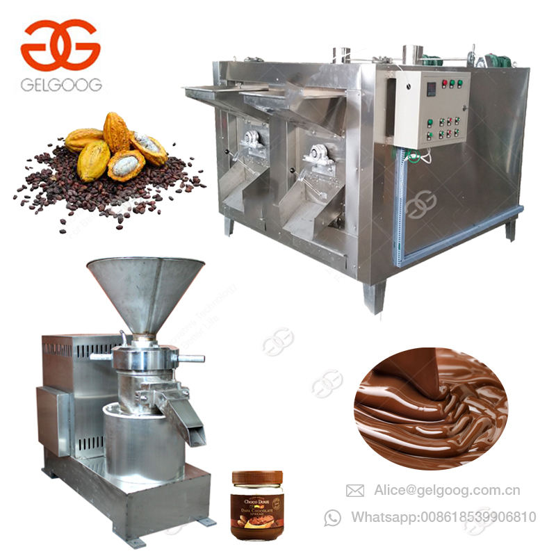 Electric Edible Cacao Beans Making Colloid Equipment Peanut Butter Mill Grinder Processing Liquid Cocoa Bean Grinding Machine