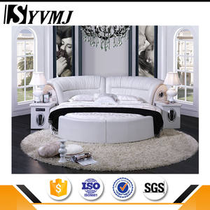 Custom logo Cheap white queen size leather bed with best quality and low price