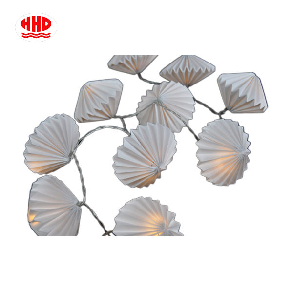 Custom Handmade Mini Origami Decoration led Paper Lantern Battery Operated Led String Lights