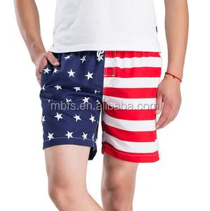 Bandera de Corea del Norte Pantalones Cortos de Playa para Hombre Casual Impresi/ón cl/ásica Ba/ñador de Secado r/ápido con Bolsillos-Blanco-Medio