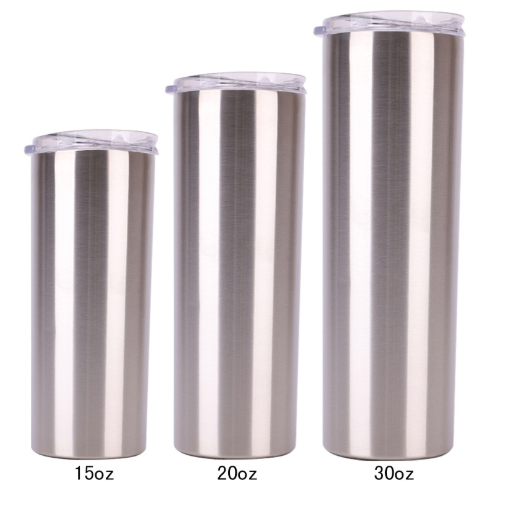 stainless steel 20 oz strainght tumblers double wall insulated straight water cups wine tumbler with lids and straws