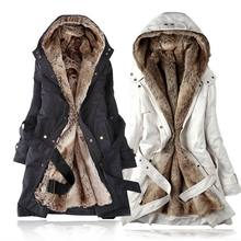 Onenweb Fashion Women's/ Girl's fur Hoodies classic coat cotton clothes overcoat 3450#