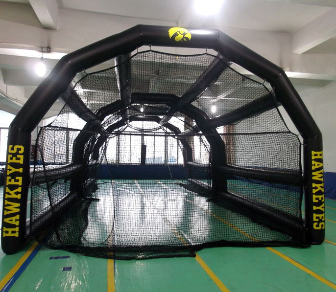 Air tight Baseball game Inflatable Batting hitting Cage for sale