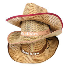 Wholesale Fashion Summer Men Boy Boater Paper Straw Cowboy Hats For Prairie Field Beach