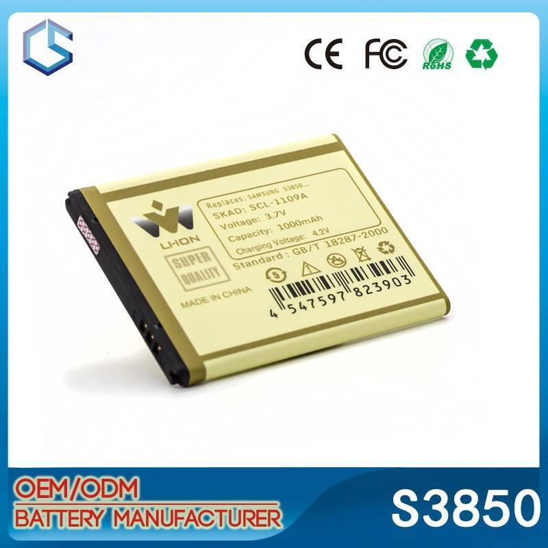 guangzhou cina telefono mobile fabbrica di batterie 1000mah batteria del telefono cellulare per samsung corby 2