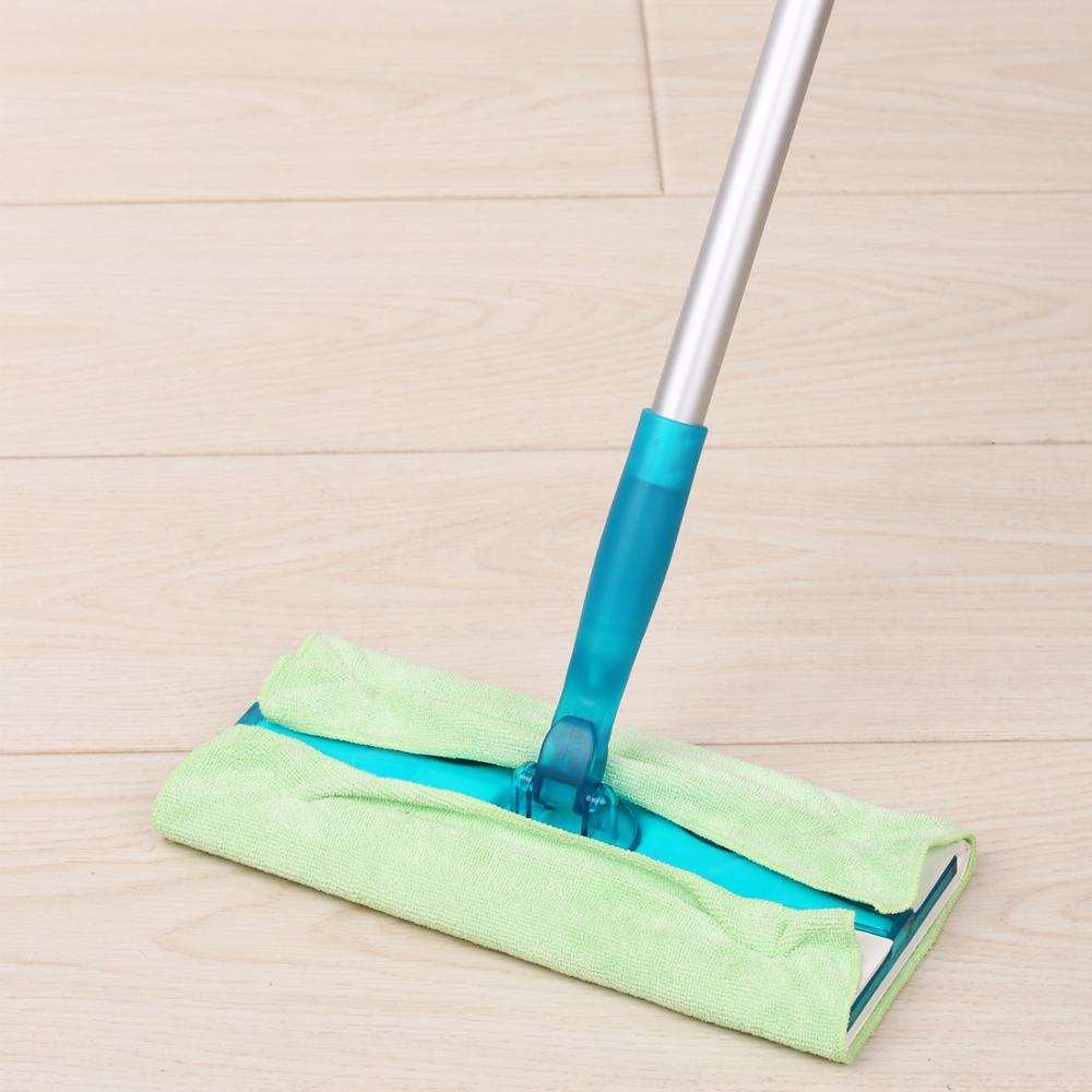 Customized Maryya Floor Cleaning Dust Flat Mop Frame with Aluminium Pole Household Cleaning with 1 Mophead Packaging Nonwovens