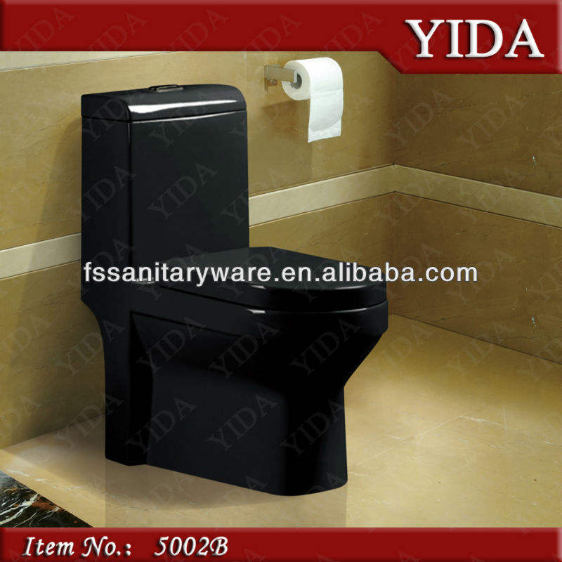 colorful toilet and black toilet for bathroom sanitary ware