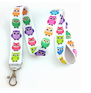 Cartoon Uil Hot Selling Gordelsluiting Flesopener Id-kaart Houder Lanyard