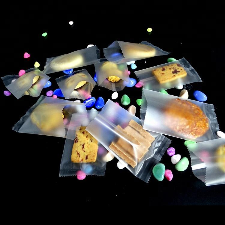 Small Cellophane Sweets Cello Opp Bags For Cookies Flat Food Bags With Tear Notch