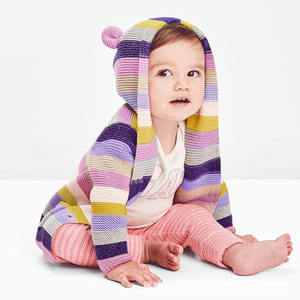 Baby Boy Cardigan Knit Solid Color Stripe Winter Sweaters for Girls Children Long Sleeve Hooded Coat Outwear Kids Clothing Girls