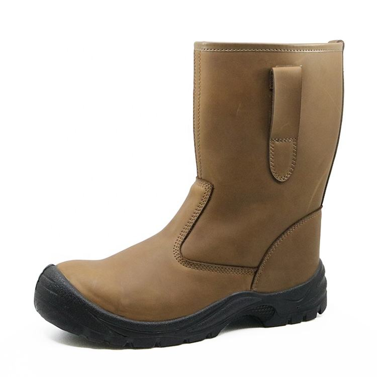 CE approved slip resistant anti static water proof leather welding men's boots shoes work safety