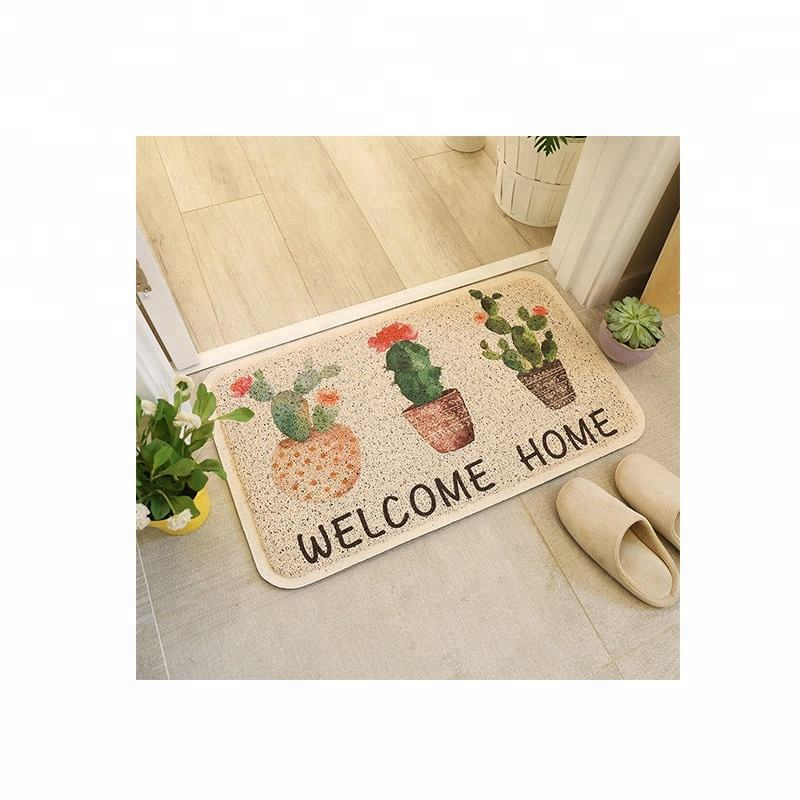 Christmas Style Custom Full Color Printed Logo PVC Door Mat for Kitchen