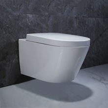 Europe design Economic Modern Rimless Ceramic Bathroom wash down wall hung toilet mounts in one piece