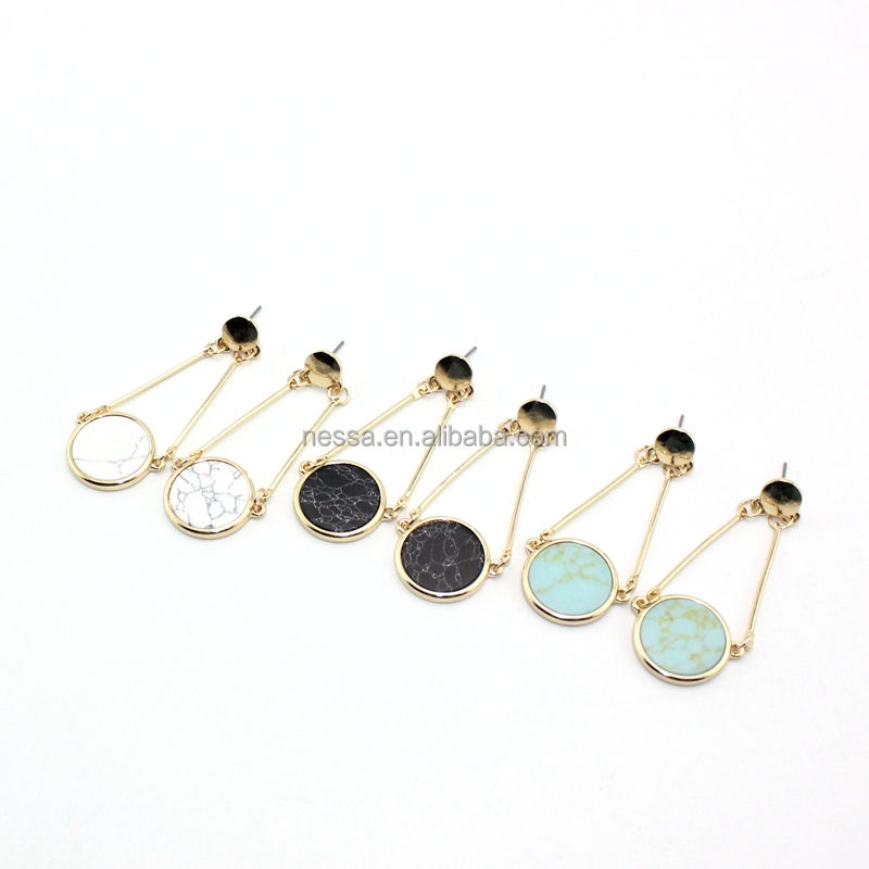 Fashion turqoise earring new product ideas wholesale BJER-0041